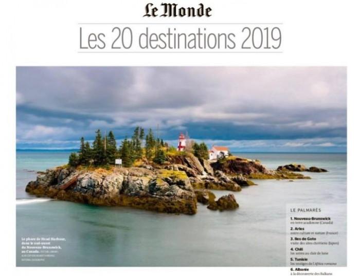 """Prestigjiozja """"Le Monde"""": Shqipëria mes 20 destinacioneve më të bukura për 2019"""