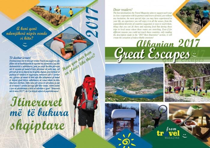 Itineraret më  të bukura shqiptare – Albanian Great Escapes 2017 on Travel Magazine