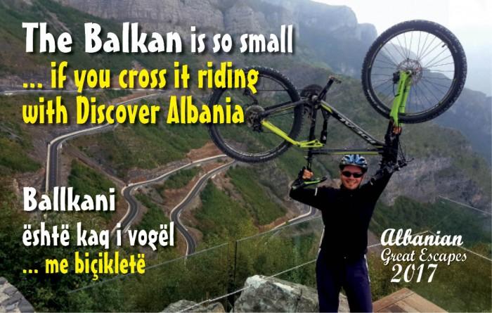 The Balkan is so small ... if you cross it riding, with Discover Albania Club  - Ballkani  është kaq i vogël ... me biçikletë